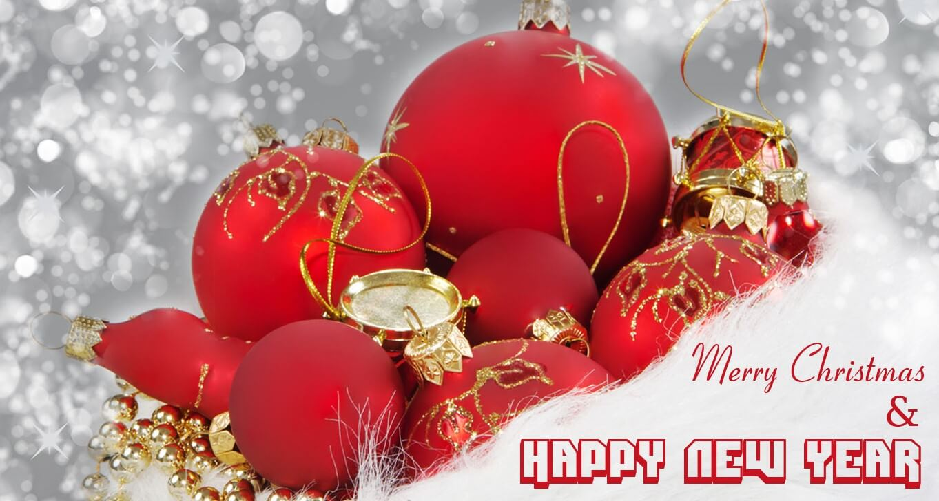 christmas and happy new year wallpaper
