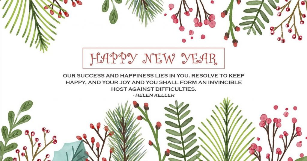 Happy New Year Wallpaper Card