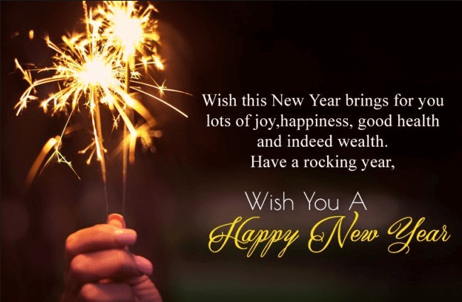 best wishes for new year eve