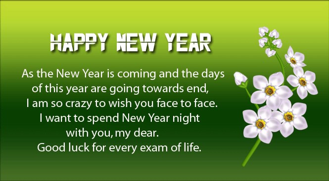 New Year Wishes English Sms