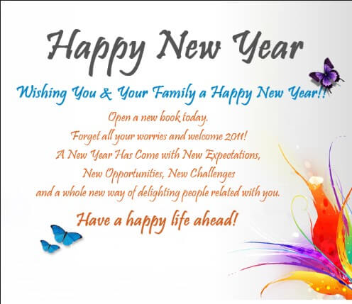 New Year Wishes Heart Touching