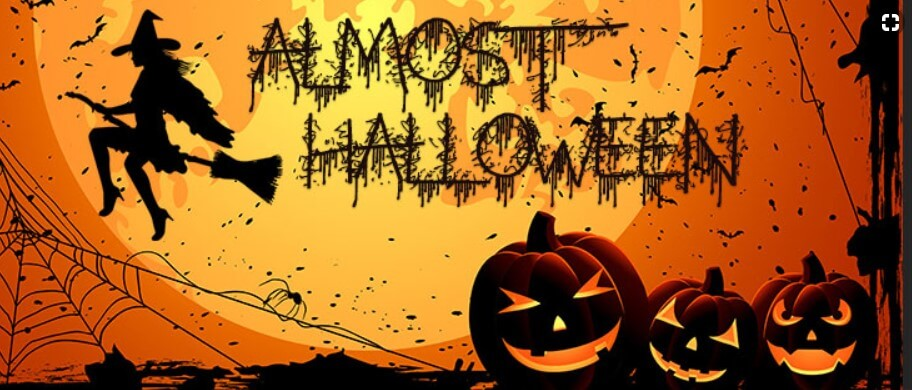 Almost Halloween Witch Pumpkins Facebook Cover