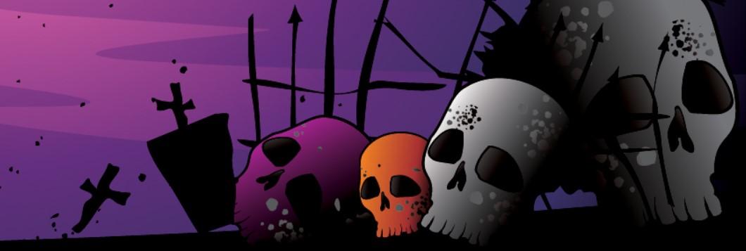 Halloween Skulls Facebook Cover