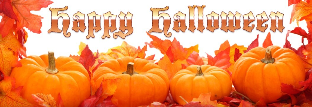 Happy Halloween Leafs Pumpkins Facebook Cover