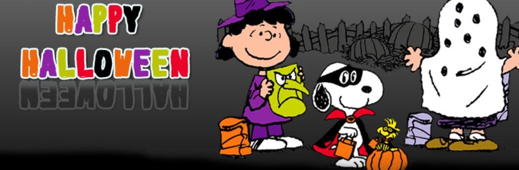 Happy Halloween Peanuts Gang Facebook Cover