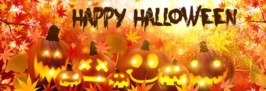 Happy Halloween Pumpkin Faces Facebook Cover