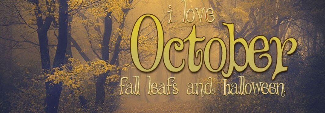 I Love October Fall Leafs And Halloween