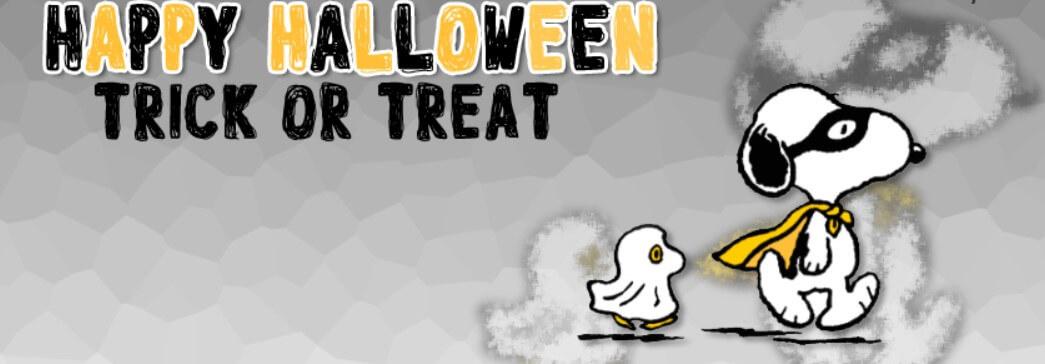 Snoopy Woodstock Happy Halloween Trick Or Treat