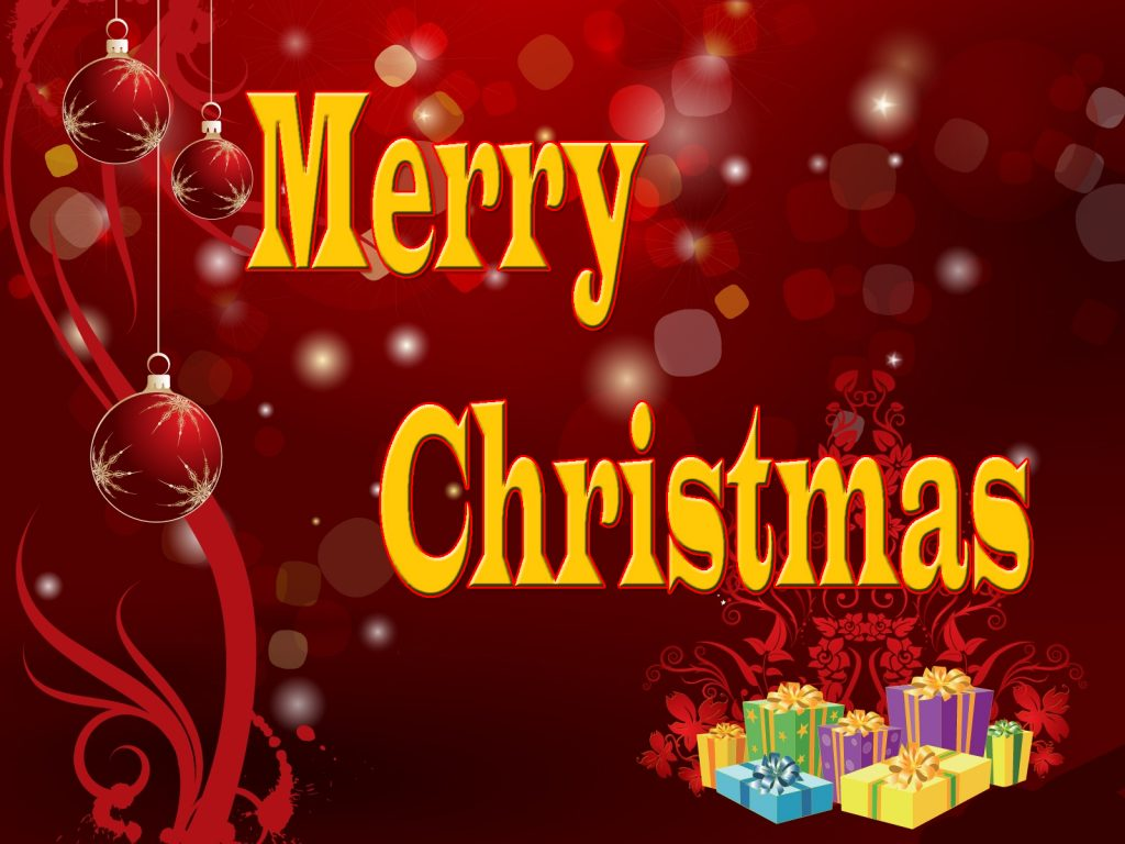 Merry Christmas New Year Wallpaper