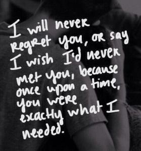 Broken Heart Quote Never Regret