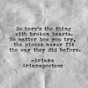 Broken Heart Quote Pieces