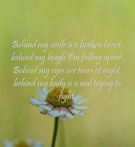 Broken Heart Quotes Behind Smile