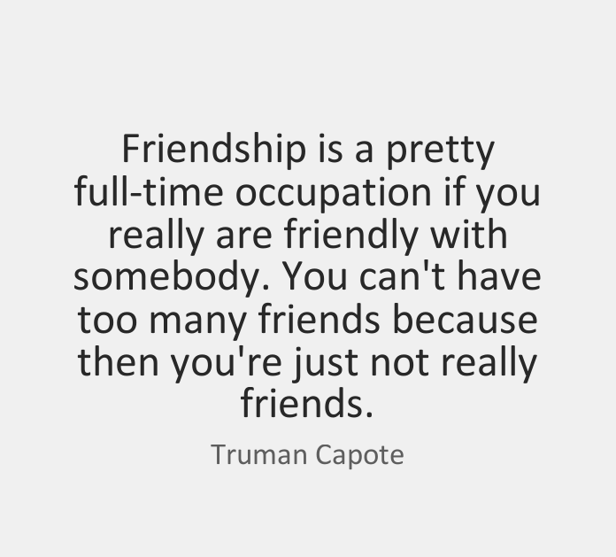 Friendship Quote Occupation