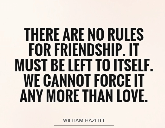 Friendship Quotes Cannot Force