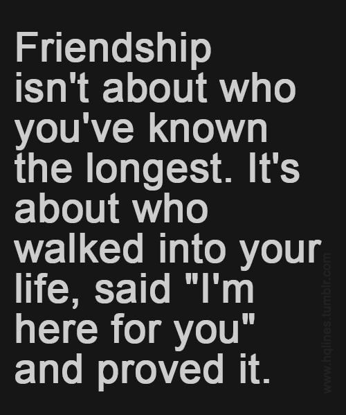 Friendship Quotes Longest Proved