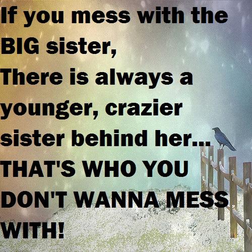 Funny Sister Saying