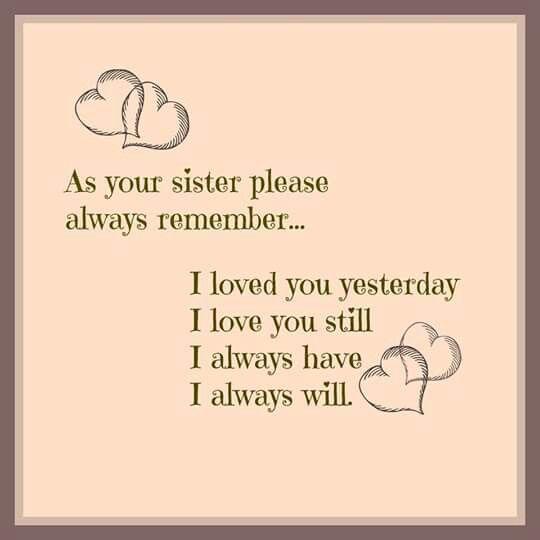 Love Sister Always