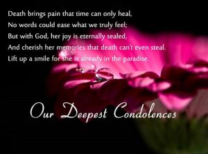 Short Death Sympathy Quotes