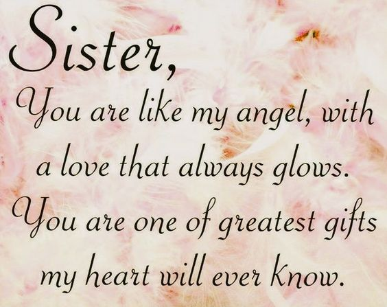 Sister Angel Quote