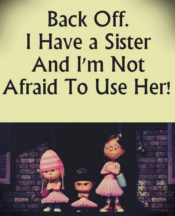 Sister Quote Back Off