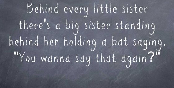 Sister Quote Behind
