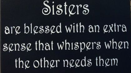 Sisters Blessed