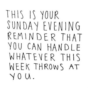 Sunday Reminder