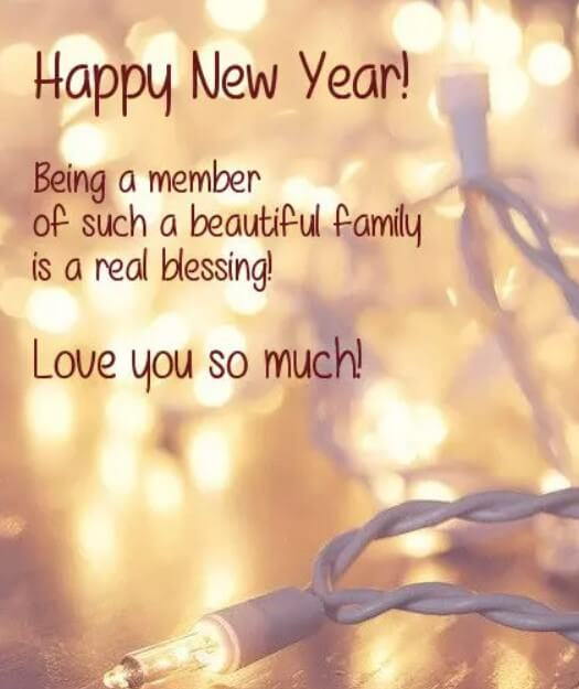 New Year Wishes For Family And Friends