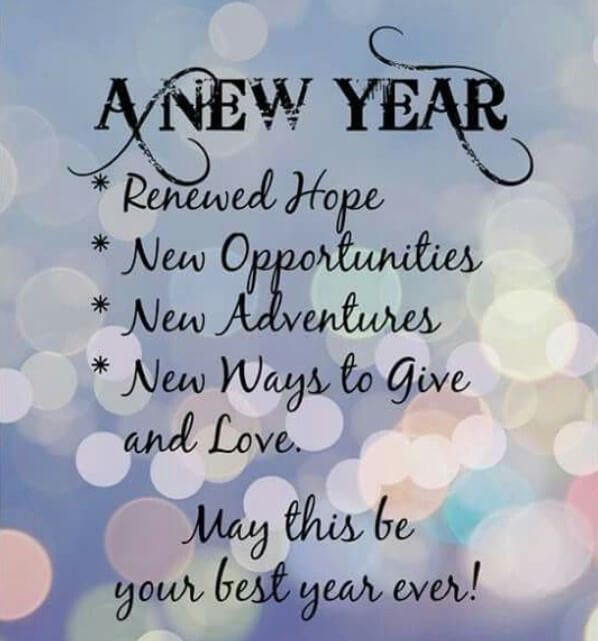 New Year Wishes For My Family And Friends