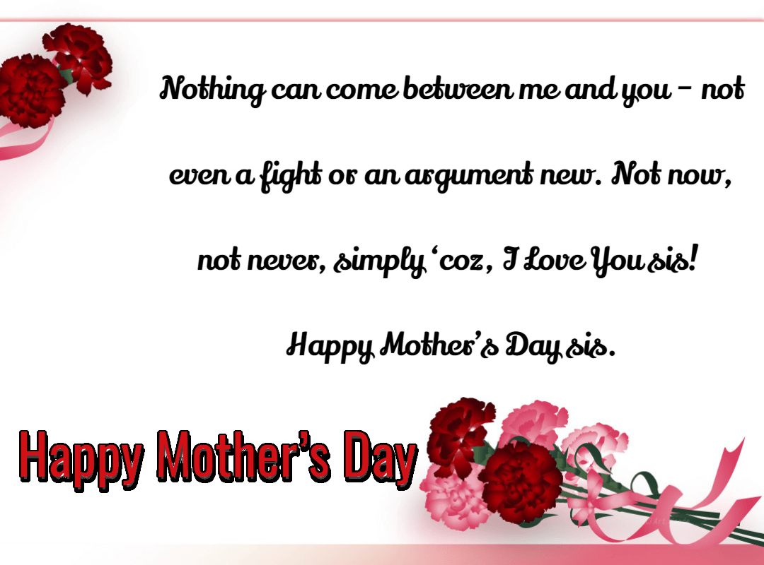 Happy Mothers Day Quotes And Greeting Sister