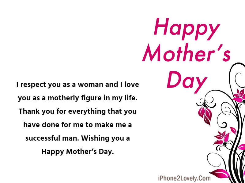 Happy Mothers Day Saying For Sir Mam Teacher Mentor Image