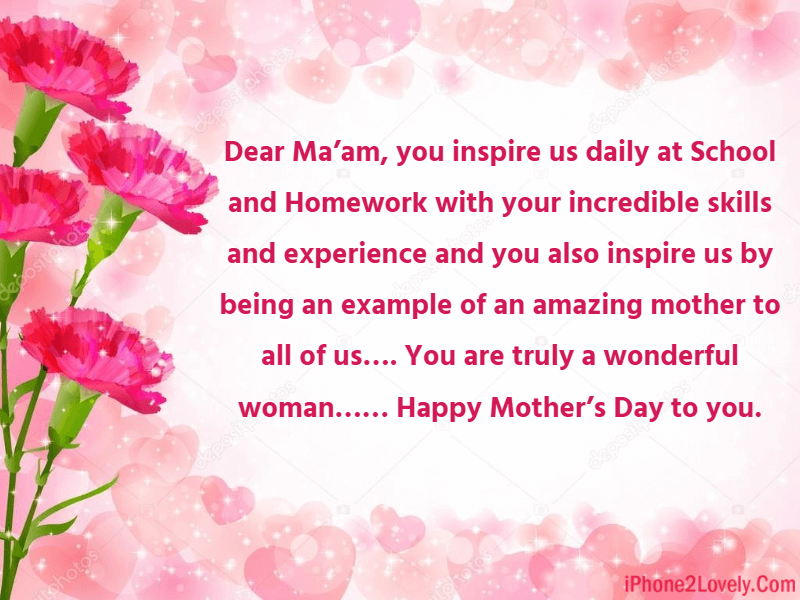 Mothers Day Wishes For Teacher