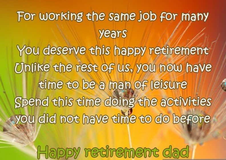 Funny Retirement Speech For Dad