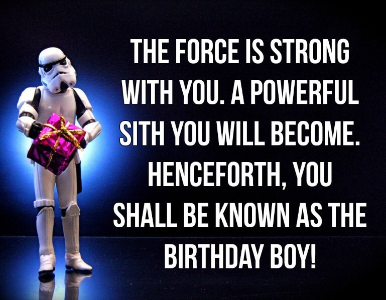 Star Wars Happy Birthday Gif