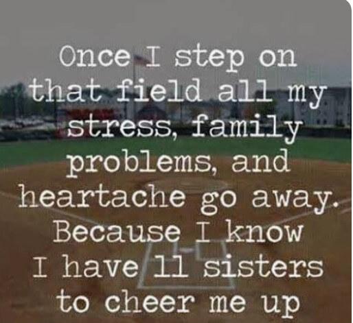 Softball Family Quote